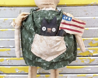 The Cat Lover Primitive Dollie-