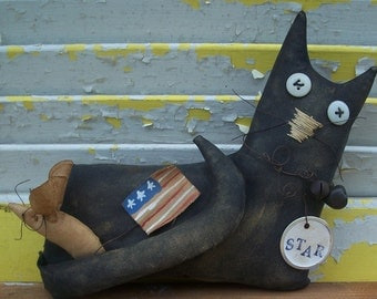 Primitive Doll Starr Americana Cat