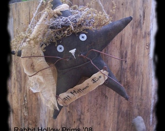 Primitive Cat Witch Star With Mouse