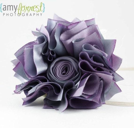 Juliette La Fleur Tutorial Pdf Fabric Scraps Ribbon Rose Flower How To Ebook Epattern Embellishment French Shabby Chic 74906SnazzieDrawe