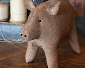 Primitive Folk Art Simple Pig Digital PDF Pattern