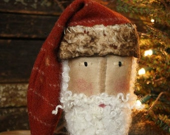 Primitive Christmas Folk Art Santa Make Do Digital PDF Pattern