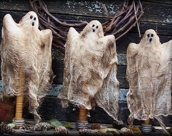 Primitive Halloween Ghost Make Do Dolls Digital PDF Pattern