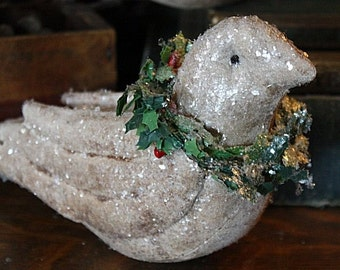 Primitive Christmas Folk Art Dove Ornies Digital PDF Pattern