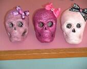 Glittered Valentine Skulls