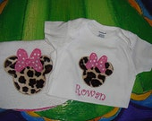 Custom MInnie Mouse Onesie