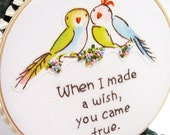 When I Made a Wish Hand Embroidered Wall Art