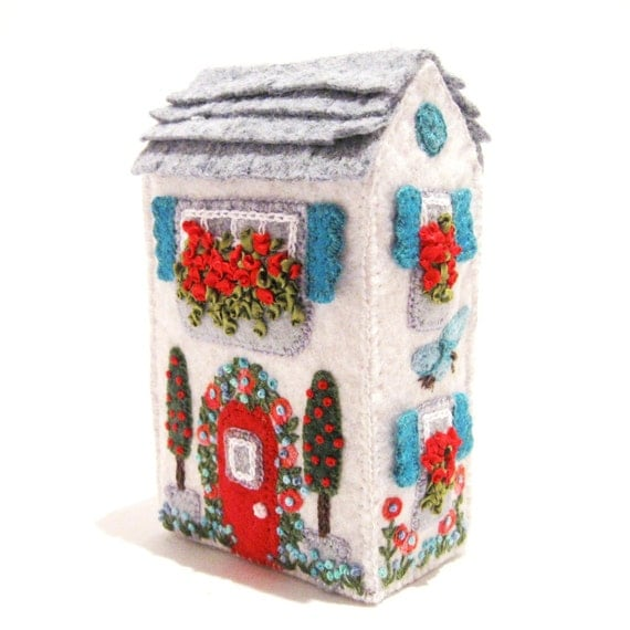 Soap Box House, Miniature, Hand Embroidered