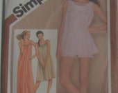 Vintage nightgown and baby doll pattern