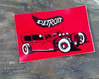 Detroit Rat Rod sticker
