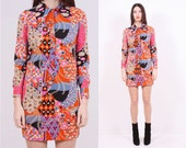 SALE - Psychedelic 70s Mini Dress