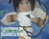 Made to Order 12 inch Crocheted Plushie Art Doll - Fully Customizable