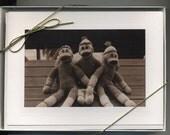 Gift Box of 10 Sock Monkey Cards