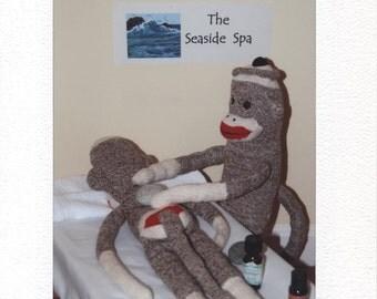 Sock Monkey Hot Rock Massage card