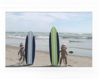 Surfer Sock Monkeys