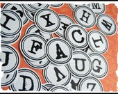 TYPEWRITER ALPHABET DOTS OR TAGS