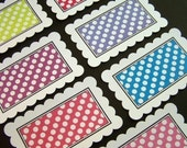 INSIDE OUT Funky Polka Journaling Tags