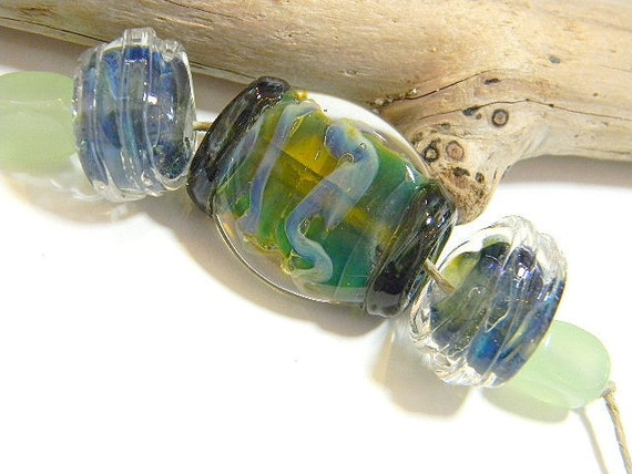 Lampwork Borosilicate Beads BLUEFISH COVE Two Sisters Designs