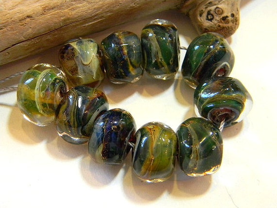 Lampwork Boro Beads 10 for 10 Two Sisters Designs