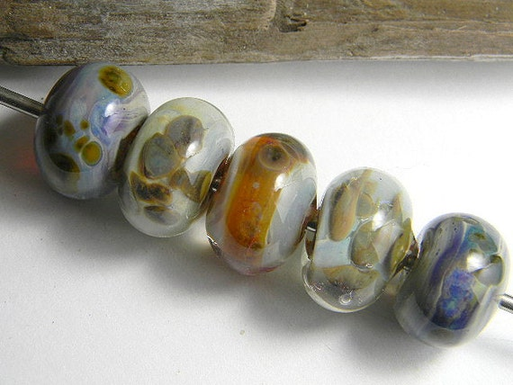 Handmade Lampwork Beads NUETRALS by Two Sisters Designs
