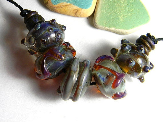 Lampwork Boro Beads BYZANTINE Two Sisters Designs