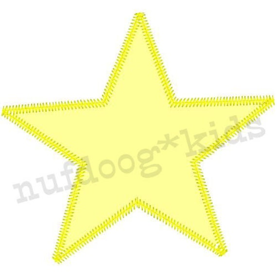 STAR Machine Embroidery Applique Holiday design 3 sizes INSTANT DOWNLOAD