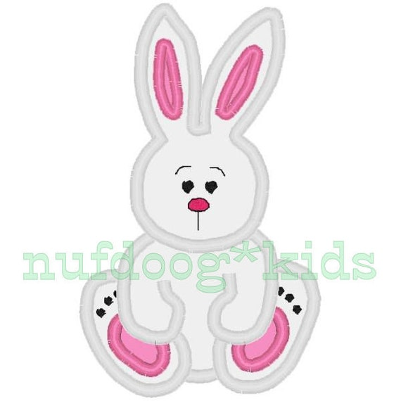 Machine embroidery applique easter bunny rabbit sizes by