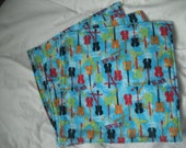 Set of 3 Flannel Baby Wipes