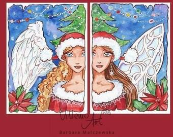 Aceo CHRISTMAS 1 - Set of 2 LE Prints
