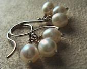 RESERVED FOR elsiejean - Pearl Cluster - Earrings