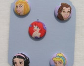 Disney Princess Button Ponys- FREE SHIPPING   EtsyKids
