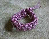 Pink Camo Zombie Apocalypse/Camping Crocheted Survival Bracelet 7 inch (8 feet of paracord)