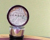 London England Vintage Map Wine Bottle Stopper  with Free Shipping