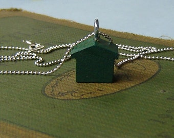Monopoly House Necklace for Doctors without Borders Sterling Silver Chain