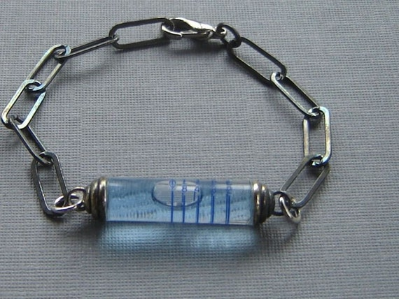 True Blue Spirit Level Bracelet for your Guy