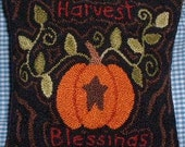 Primitive Needle Punch PATTERN Harvest Blessing