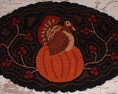 Primitive Needel Punch Mat PATTERN Fall Turkey