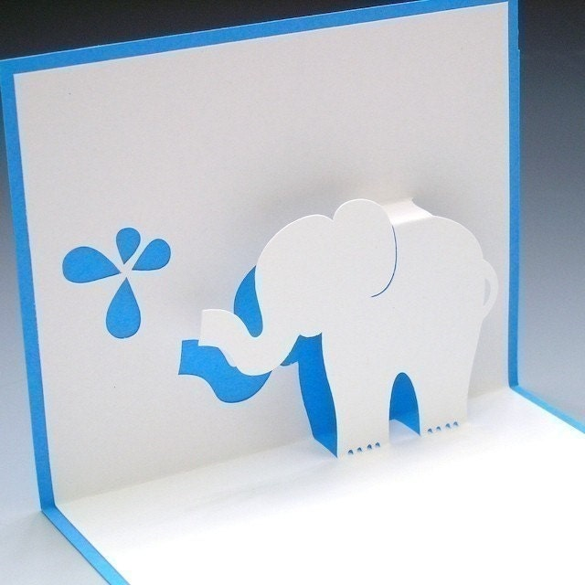Elle The Baby Elephant Pop Up Card