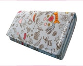 Long Wallet, Clutch, Wallet, Purse, Pouch,Accessories,Tattoo Style