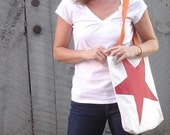 Reiter8 Red Star Recycled Sail Tote Bag