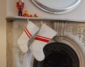 Recycled Sail Holiday Stocking - Small Red Stripe