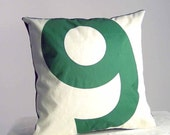 Recycled Sail Pillow - Green Number 9