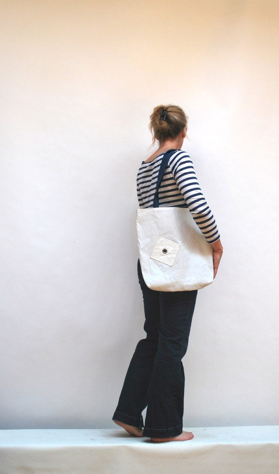 Recycled Sail Tote Bag with Grommet