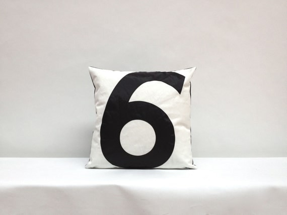 Recycled Sail Throw Pillow - Black number 6
