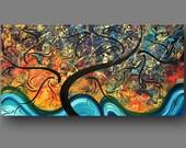 Original Painting ABSTRACT ART Modern by MADART  HUGE 48X24  -  GOLDEN IMPASSE