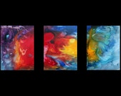 Huge Colorful Abstract Contemporary Original Painting Art MADART on Etsy -  54x24 - Heat in Motion