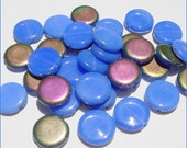34 Unusual Glass Flat Coin Beads