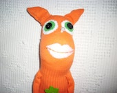 Sock doll - Ophelia in Orange - JulieAnnMade