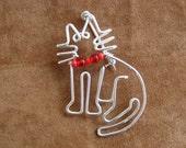 KITTY CAT BROOCH wirework