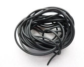 7 feet of black RUBBER TUBE hollow 2.5mm